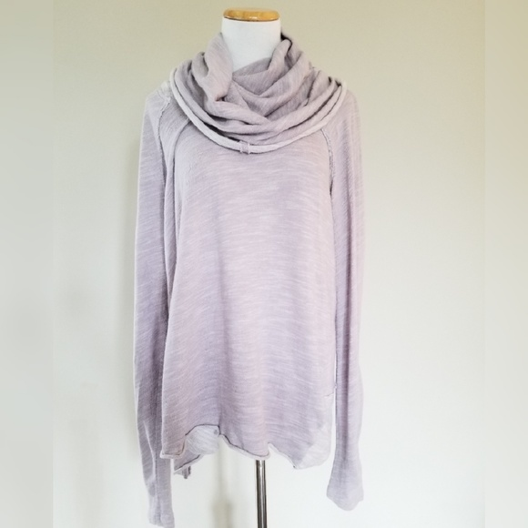 Free People Tops - Free People Beach Cocoon Cowl Pullover Lavender